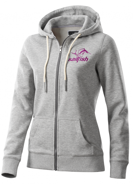 sailfish lifestyle hoody jacket woman grey