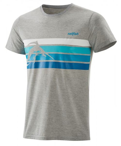 sailfish t-shirt stripe men grey