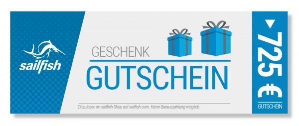 Geschenkgutschein € 725